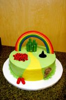 wizard of oz cake by pinkshoegirl