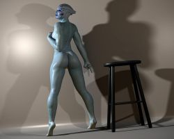 Asari pinup session 4 by mordin86