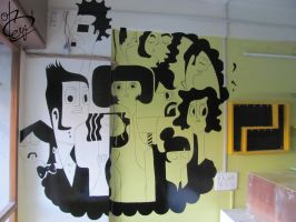 Doodle Wall Painting by Parth Kothekar by ParthKothekar