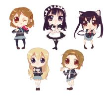 K-ON KEY CHAIN SET by cuddle-meee
