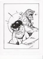 STEVEN SANCHEZ'S HULK-THING INKS by FanBoy67