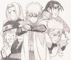 Five Hokages Rocking The House by ydoc16