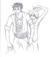 Kurogane and Fai go Shopping by marauderfan