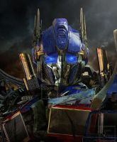 Optimus Prime - After a Hard Battle -Close up- by Lady-Elita-One