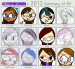 My 2013 Summary of Art by Queen-Of-Purple