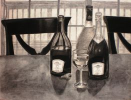 Bottles of alcohol by bloominglove