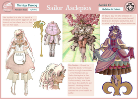 Sailor Asclepios Reference Sheet by MistressLegato