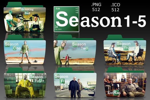 Breaking Bad : TV Folder Icons by rohithkumarsp
