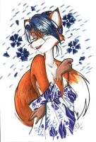 Fox in a Kimono by Candy-Janney