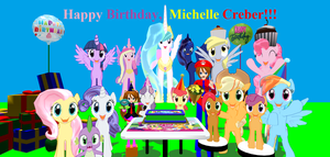 Happy Birthday, Michelle Creber!! (Sept. 7, 2015) by Mario-McFly
