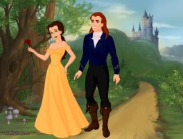 Belle and Prince Adam by Kailie2122