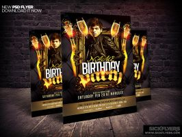 Birthday/Bachelor Party Flyer Template by Industrykidz