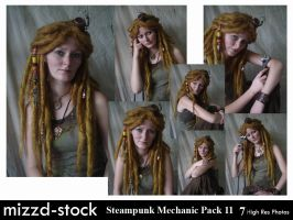 Steampunk Mechanic Pack 11 by mizzd-stock