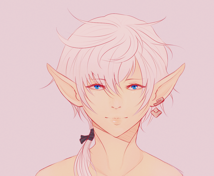 Alphinaud colored doodle by NekomataChi
