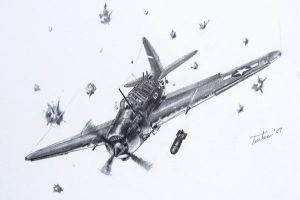 SB2C Helldiver by Graphiticus