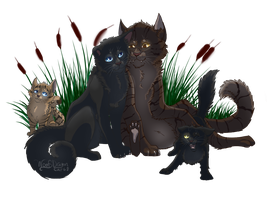 Riverclan Family by WoofyDragoncat68