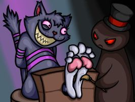 Cheshire Cat Tickled by Lord-Reckless