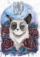 Grumpy cat by koffinkandy