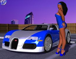 Valerie's Bugatti Veyron by ImfamousE