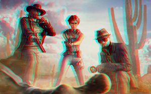 Call Of Juarez 3D Red Cyan Anaglyph by Fan2Relief3D