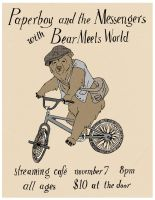Paperboy and the Messengers with Bear Meets World by AlexaHarwoodJones