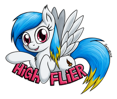 High Flier Con Badge by Snetri