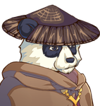 Pandaren (with hat and cloak) by SchwarzeNacht