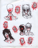 CREEPYPASTA INK CHALLENGE: Proxies and Operators by InvaderIka