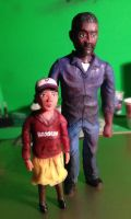 Lee and Clementine Sculpture by JonGon