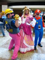 DragonCon '12 - Wario, Princess Peach, Mario by vincent-h-nguyen