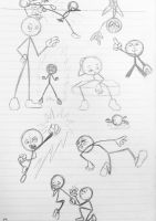 Exploring Dynamic poses with StickMan by wulongti