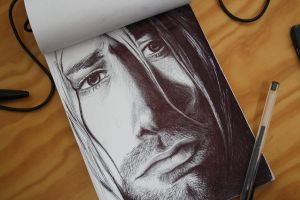 Kurt Cobain by JamesFerrara