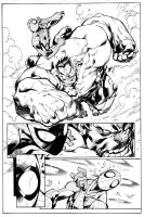 AVENGING SPIDER-MAN sample inks over Joe Maduriera by lebeau37