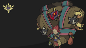 [Zelda x Monster Hunter] Happy Mask Granny by BlazingCobalt