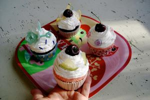 Real Fake Cupcakes by MotherMayIjewelry
