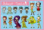 Anthro/Human Adopt Sale - Points or Cash- [OPEN] by ayayue-adopts