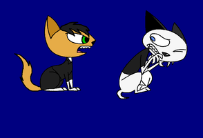 Kitty and Dudley as Kats by Spotty0