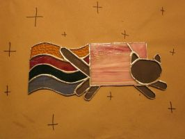 Stained Glass Nyan Cat by bingles