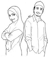 muslim man and woman by agent-ea