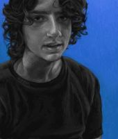 Bryan with Blue Background by cuteblackkat