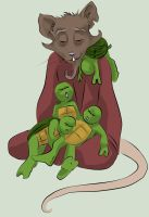 TMNT: SCRAP Splinter and Babies. by loolaa