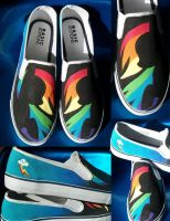 Pony shoes- Rainbow Dash by Muku-charms