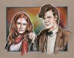 11th Doctor and Amy Pond by scotty309