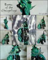 Chrysalis, Queen of the Changelings- bb MLP Custom by wylf