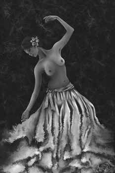 Carefree Dancer - Black and White by AshleyDay44