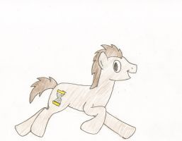 Happy Running Doctor Whooves by Bronyman1995