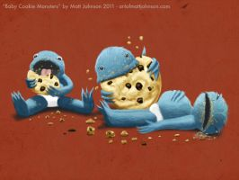 Baby Cookie Monsters by ceramicmatt