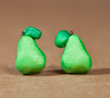 Pear Stud Earrings by SweetSugaRush