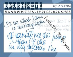 Brush-Set: Handwritten Lyrics by Alekt0o