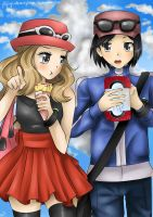 X and Y Serena and Calem by FlyingCatsandGlitter